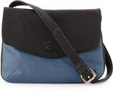 Neiman Marcus Marni Fold-Over Nylon Crossbody Bag, Denim Gray