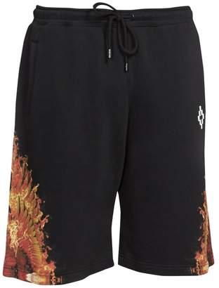 Marcelo Burlon County of Milan Flame Wing Cotton Shorts