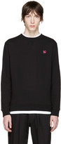 McQ by Alexander McQueen Black Embroidered Pullover