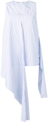 Joseph striped draped sleeveless top