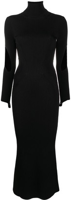 Thierry Mugler Ribbed-Knit Dress