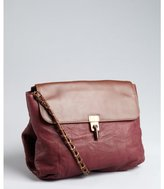 Lanvin maroon lambskin chain strap 'Happy' shoulder bag