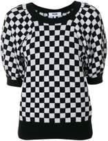 MSGM checkered knit sweater