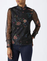 Monsoon Fiorella Printed Mesh Top