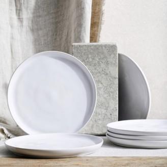 The White Company Portobello White Dinner Plate Set of 6, White, One Size