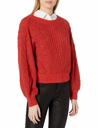 Joie Women's Long Sleeve Sweater with Cable Knit Effect