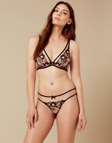 Agent Provocateur Janie Thong Black And Peach