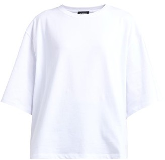 Raf Simons Pierced Mouth Guy Cotton T-shirt - Womens - White Multi