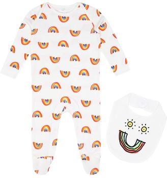 Stella McCartney Printed onesie and bib set