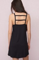 Garage Straight Neck Cage Back Swing Dress