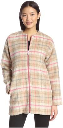 Bernardo Women's Plaid Zip Coat
