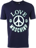 Love Moschino logo print T-shirt - men - Cotton/Spandex/Elastane - M
