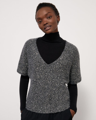 Jigsaw Sparkle Ss V Neck Top