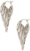 Diamond-Cut Twisted 4-Row Hoop Earrings