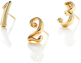 Lulu Frost Code Number Earring - 14K Yellow Gold