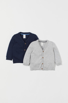 H&M 2-pack Cotton Cardigans