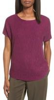 Eileen Fisher Women's Organic Linen & Cotton Knit Top