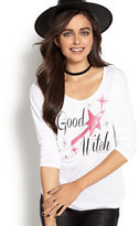 "New York & Co. ""Good Witch"" & ""Bad Witch"" Graphic Logo T-Shirt"
