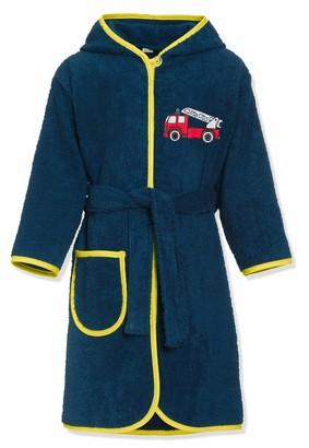 Playshoes Boy's Kinder Frottee-bademantel Feuerwehr Bathrobe