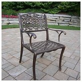 Oakland Living Mississippi Antique Bronze Arm Chair