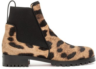 Christian Louboutin Marchacroche leopard boots