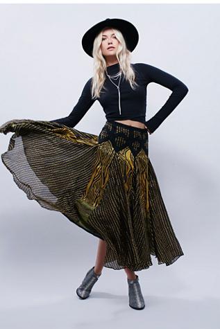 Lotta Stensson Womens Maracana Silk Skirt