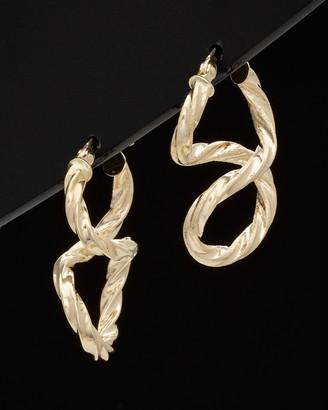 Italian Gold 14K Twisted Hoops