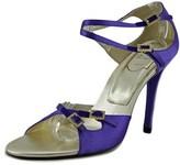 Roger Vivier Sandal Goldie T.100 Women Open-toe Canvas Purple Heels.