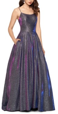 Betsy & Adam Galaxy Glitter Ball Gown