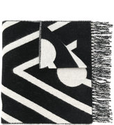 Henrik Vibskov embroidered fringed scarf