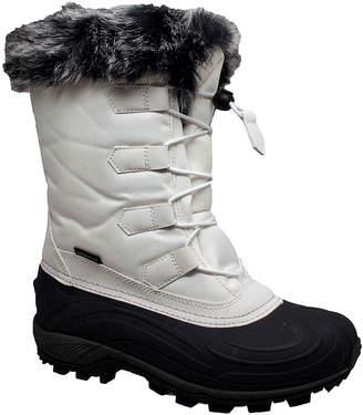 Winter Tecs Women's Cold Weather Boots White - White Fuzzy-Trim Duck Boot - Women