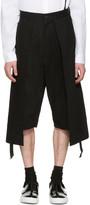 D.gnak By Kang.d Black Twill Long Layered Shorts