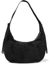 Elizabeth and James Zoe Large tasseled suede shoulder bag