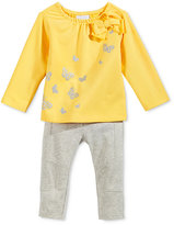 First Impressions Baby Girls' 2-Pc. Long-Sleeve Metallic Butterfly Top & Leggings Set, Only at Macy's