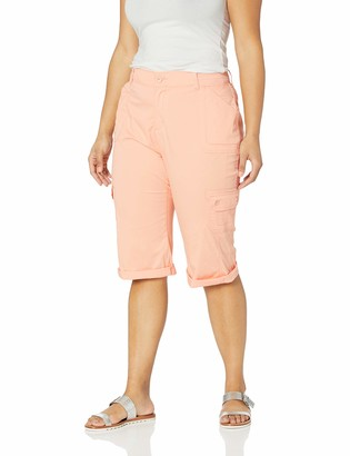 Lee Women's Plus Size Flex-to-Go Relaxed Fit Utility Capri Pant