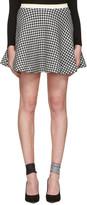 Miu Miu Black and White Gingham Check Skirt