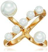 Rebecca Minkoff Pearl X Ring, Size 7