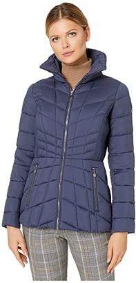 Bernardo Fashions EcoPlume Packable Puffer Jacket (Mood Indigo Blue) Women's Jacket