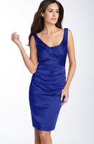 Suzi Chin 38080 Sleeveless Ruched Cocktail Dress