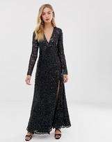 French Connection Helena embellished maxi dress