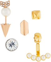 Rebecca Minkoff Singles Club Arrow Mix-&-Match Earring Set, Tri-Tone
