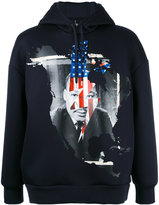 Neil Barrett Martin Luther King hoodie - men - Polyurethane/Viscose - XXS