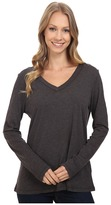 Dylan by True Grit - Gauzy Cotton Long Sleeve V-Neck Tee Women's Long Sleeve Pullover