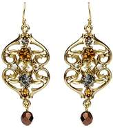 Ben-Amun Women's Arabian Nights Gold Crystal Drop Bead Fish Hook Earrings