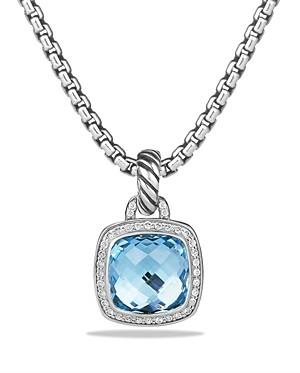 David Yurman Albion Pendant with Blue Topaz and Diamonds