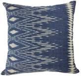 Slate + Salt Indigo Ikat Pillow Cover