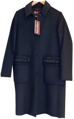 Max Mara Black Wool Coat for Women