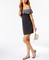 MICHAEL Michael Kors Ruffled Off-The-Shoulder Cover-Up Dress
