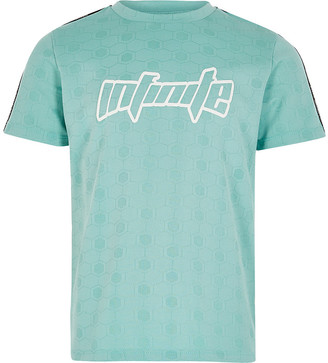 River Island Boys Turquoise OB Active Mint Tee