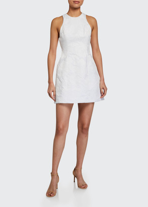 Alice + Olivia Coralia Open-Back Lantern Dress